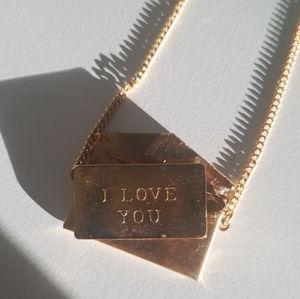 Vintage Envelope Necklace